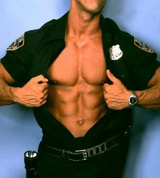 hot naked man cop